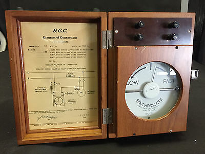 Rare Antique 1930s Synchroscope by General Electric Co. UK