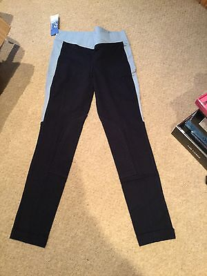 "Equitech Childrens Childs Kids Jodhpurs Jodphurs blue 24"" Riding Equestrian BNWT"