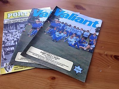 Collection of Port Vale Football programmes