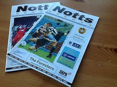 Collection of Notts County Football programmes