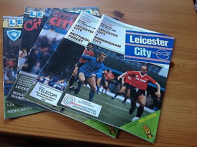 Collection of Leicester City Football programmes