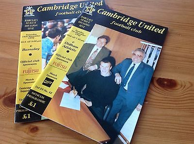 Collection of Cambridge United Football programmes