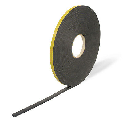 PVC Window Glazing Tape Double Sided - Black 2mm, 3mm, 4mm, 5mm and 6mm