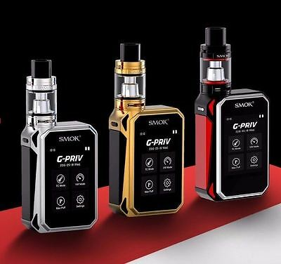 SMOK G Priv KIT COMPLETO 220w Touch Screen TFV8 Big Baby Tank 100% Auth Rosso