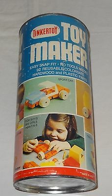 Vintage 1960 TINKERTOY Tinker Toy Toy Maker #444  87 Pieces Instructions USA mad