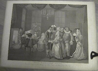 1805 Hogarth Etching Royal Masquerade