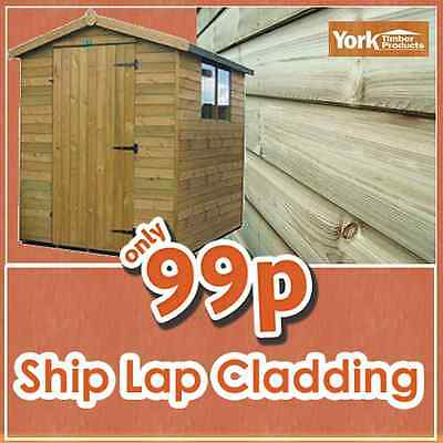125mm x 16mm Treated Tanalised SHIPLAP Timber Cladding 110m