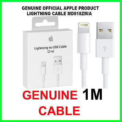 Genuine Boxed Apple iPhone 6S 6 Plus iPad Lightning USB Data Charger Lead Cable