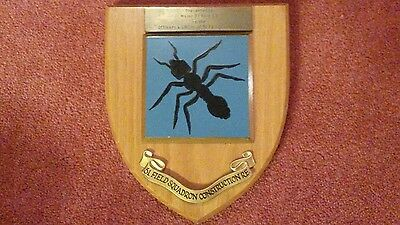 51 FIELD SQUADRON ROYAL ENGINEERS  Plaque ANT. Presentation dedication.