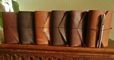 Handmade Leather Notebook Covers Moleskine Field Notes Refillable Midori Style