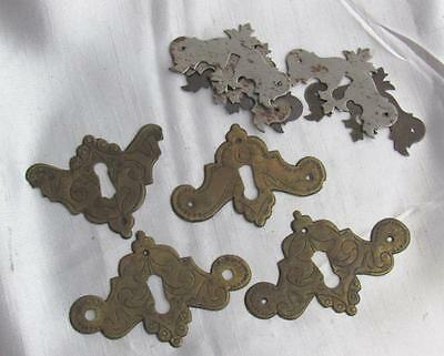 Collection Lot of Antique & Vintage Keyhole Backplates