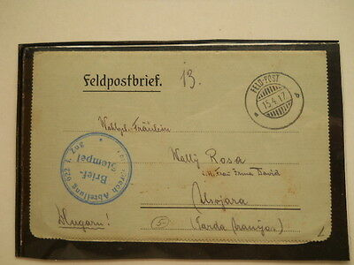 1917 - Osterreich - Letter Sent to the Family Front