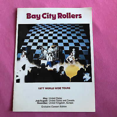 Collectible: 1977 Bay City Rollers Concert Tour Program