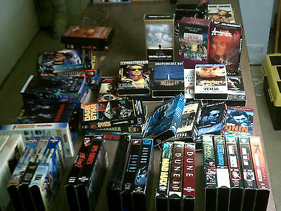 Lot of 50 Plus Cult Classic Movies and Stories on VHS Many Great Titles See Pics