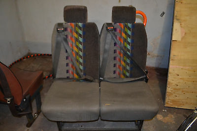 twin Minibus seats from Iveco minibus with seatbelts and quick release