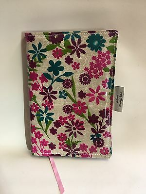 A5 Diary Cover, Journal Cover,Nurses Diary Cover, Page To View,Flowered Oilcloth