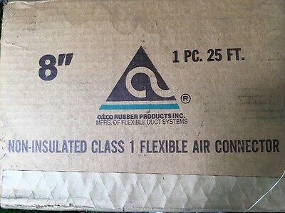 """New Atco Rubber Products Non-Insulated Flexible Air Connector 6"""" x 25'"""