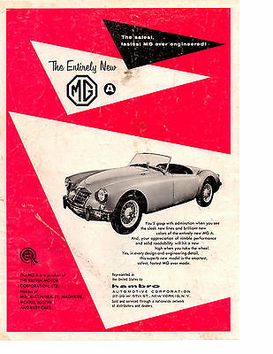 1956 Mg Mga ~ Original Print Ad