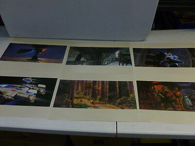 Lot of 10 1983 Star Wars Return of the Jedi Ralph McQuarrie Prints