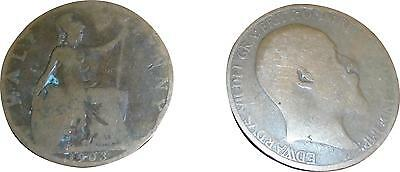 USED British Edward VII 1903 half Penny Coin (One Coin Only) (D.T)