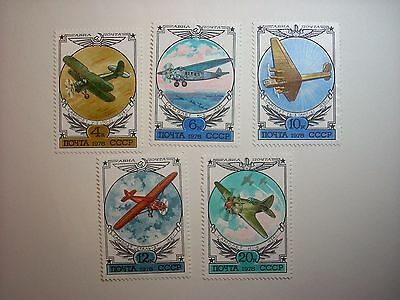 Russia 1978 Early Russian Aircraft Set 5 Of 6 Mnh Sg4791/6