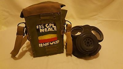 WW2 Gas Mask  1943 owned by a Corporal Neale