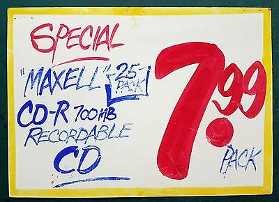 Older Honest Ed's sign - Maxell - Toronto - authenticated - limited supply