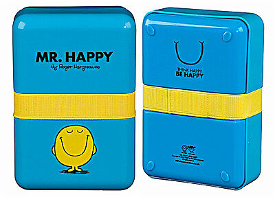 Mr Happy Mr Men Lunch Box Blue
