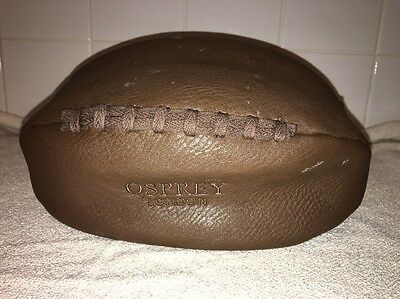 Osprey London Rugby Ball Shape Brown Wash Bag Toiletry Case Travel