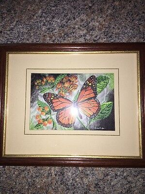Cashs Woven Pictures Picture Frame Monarch Butterfly Framed Art