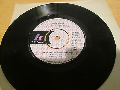 """Peter Brown - Do ya wanna get funky with me 7"""" vinyl single."""