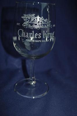 Charles Krug Wine Glass Goblet First in NAPA Valley California Est. 1861