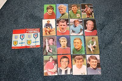The great stars of Football 1970 cards