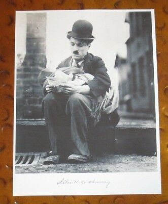 "Silas Hathaway baby in 1919 Charlie Chaplin's ""The Kid"" signed autographed photo"