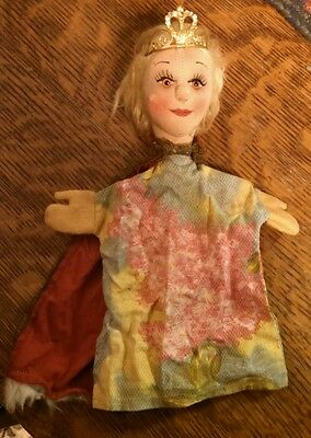 KERSA??  Vintage HAND PUPPET QUEEN/ princess toy