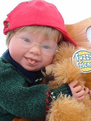 """Reborn 22""""Toddler Boy Doll """"Timmy and Teddy"""" -Down Syndrome Tribute"""