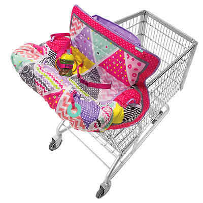 infantino compact cart cover, keeps baby safe, machine washable, toys, pink