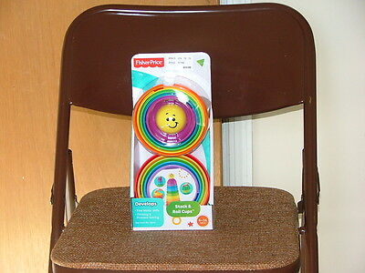 Fisher-Price Stack & Roll Cups - NEW