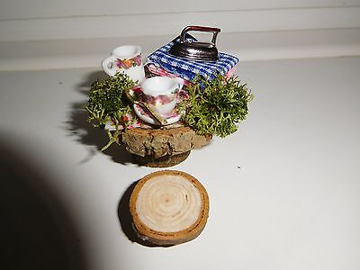 """"""" A Well Deserved Cuppa After All That Ironing"""" Fairy Garden Table -And Stool"""