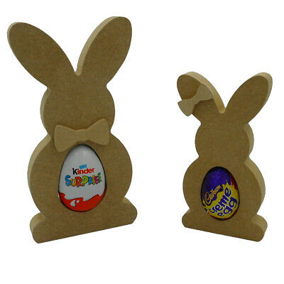 Freestanding Easter Bunny Rabbit 18mm thick MDF Craft Blank Height 15cm or 20cm