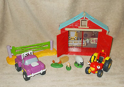 Tractor Tom Springhill Spring Hill Farm Play Set Barn Rev Jeep Animal Figures