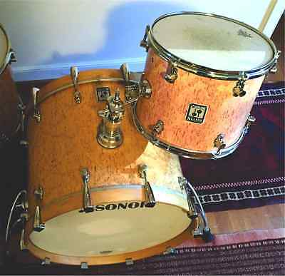 Sonor S Class 1990's birch sells, bass drum and mt. tom made in Germany