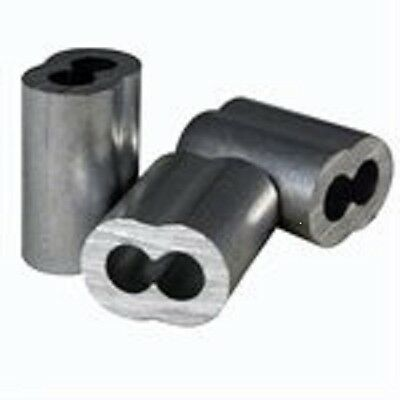 """Aluminum Swage Sleeves for 5/16"""" Wire Rope Cable: 10, 25, 50 and 100 pcs"""