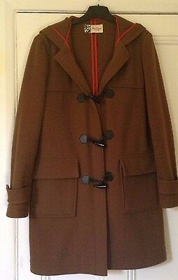 Ladies JAEGER Boutique ginger brown duffle coat size Small
