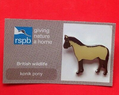 RSPB-British Wildlife KONIK PONY Pin Badge.
