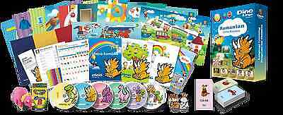 Romanian for Kids Deluxe set, Romanian learning DVDs, Books, Posters, Flashcards