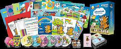 Albanian for Kids Deluxe set, Albanian learning DVDs, Books, Posters, Flashcard