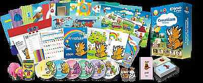 Croatian for Kids Deluxe set, Croatian learning DVDs, Books, Posters, Flashcards