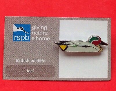 RSPB-British Wildlife TEAL Pin Badge.