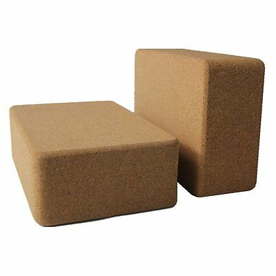 2 Piece Sustainable 100% Natural Cork Yoga BlockEasy-to-grip,non-slip surface